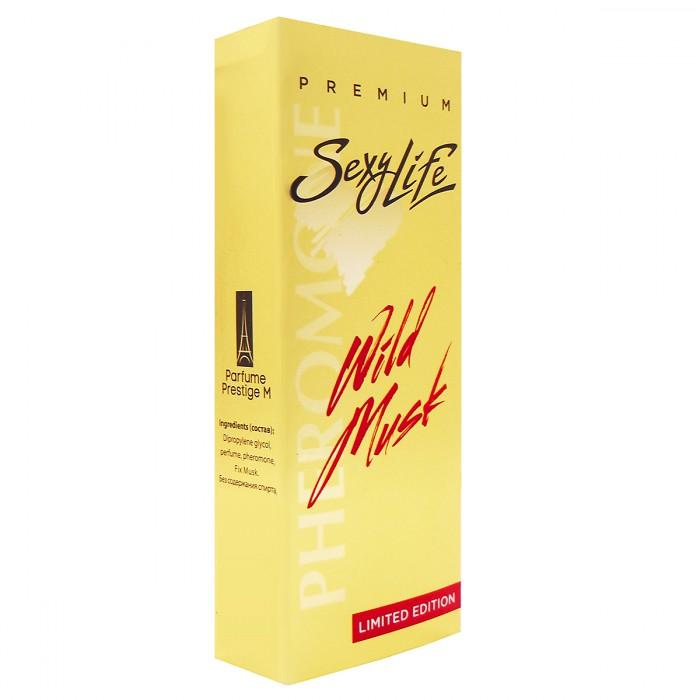 МУЖСКИЕ ДУХИ SEXY LIFE WILD MUSK № 4 SHAIK 77, 10мл, с мускусом и феромонами